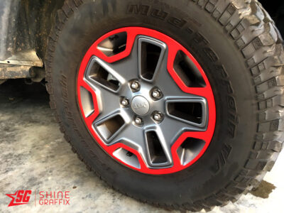Jeep wrangler JK Rubicon wheel decals Overlays