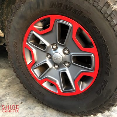 Jeep wrangler JK Rubicon wheel decals Overlays