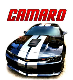 Chevrolet Camaro Racing stripes and graphics