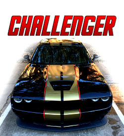 Dodge Challenger Racing stripes and graphics