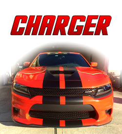 Dodge Charger Racing stripes and graphics