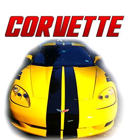 Chevrolet Corvette Racing stripes and graphics