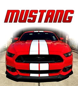Ford Mustang Racing stripes and graphics