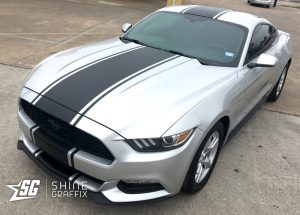 2017 ford mustang snake stripes side