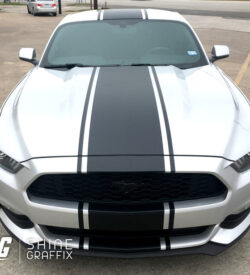 2017 ford mustang snake stripes top