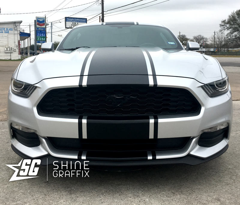 2017 ford mustang snake stripes spoiler