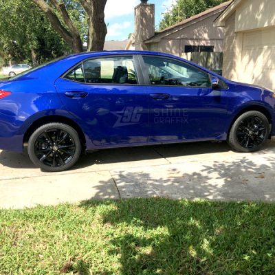 2017 corolla black wheels decals SE XSE side