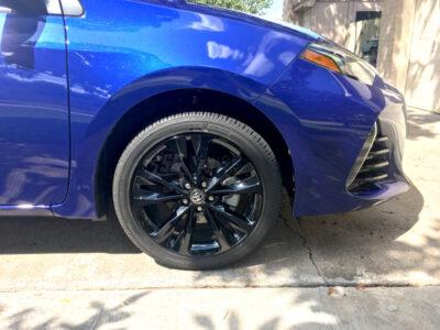 2017 corolla black wheels decals SE XSE front wheel