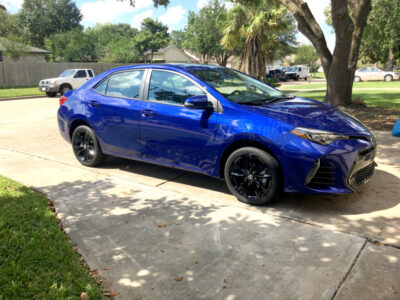 2017 corolla black wheels decals SE XSE front
