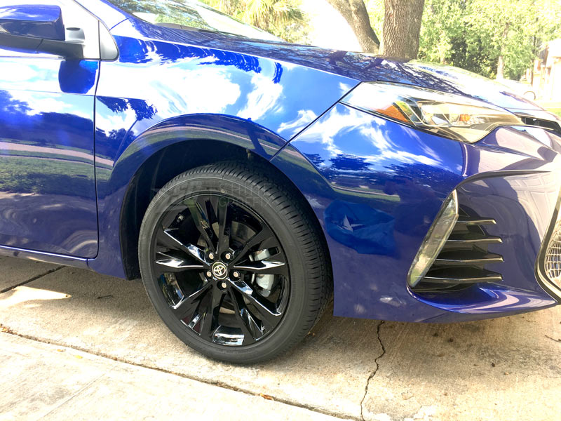 2017 corolla black wheels decals SE XSE front side