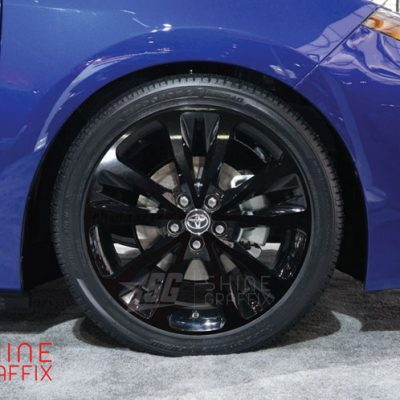 2017 corolla SE XSE wheel decals 17 wheels blue
