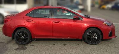 2017 corolla SE XSE wheel decals 17 wheels red