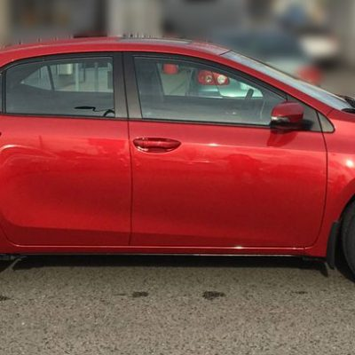 2017 corolla SE XSE wheel decals 17 wheels red