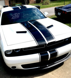 Challenger dual Rally stripes kit side