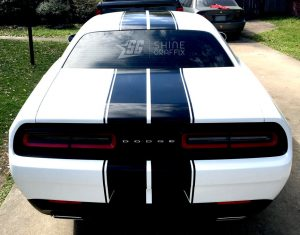 Challenger dual Rally stripes kit rear
