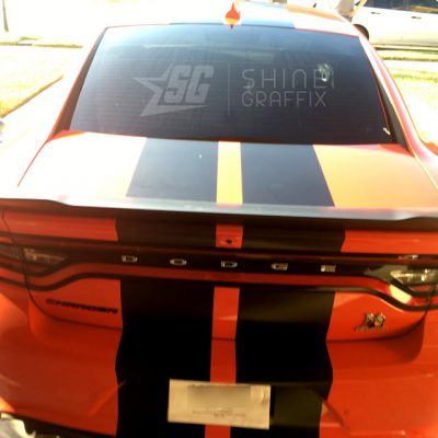 Charger srt racing stripes 1 scat pack rear