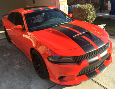 Charger srt racing stripes 1 scat pack side