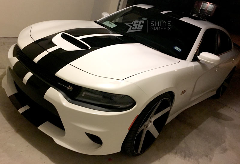 Charger scat pack racing stripes