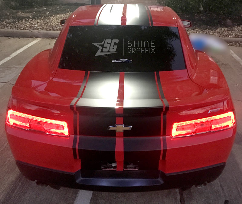 Camaro Racing Stripes ZL1 Rally rear