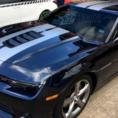 Camaro ss racing stripes side