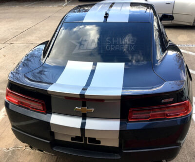 Camaro ss racing stripes Rear