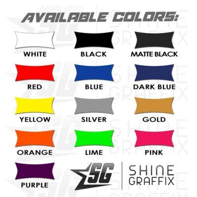 Vinyl film colors