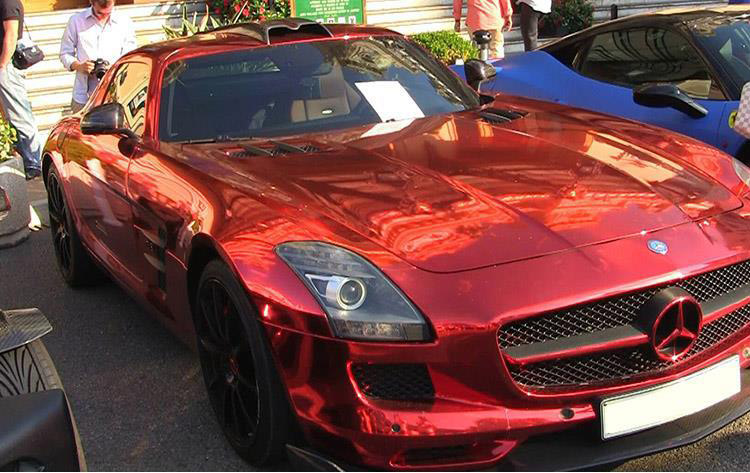 Chrome Car Wrap >> Red Chrome Vinyl Car Wrap Film Shine Graffix Com