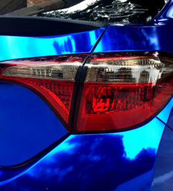 Toyota Corolla taillight precut tint smoked side rear