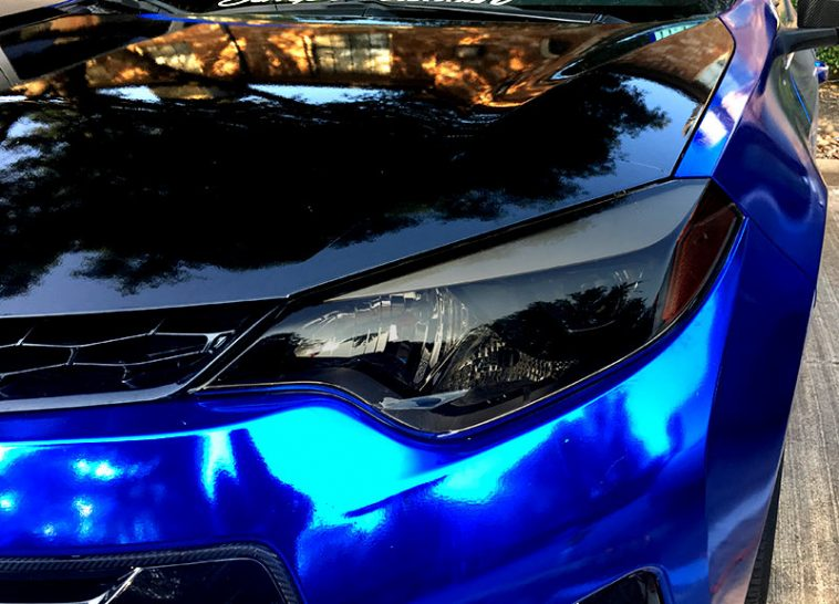 corolla headlight precut tint