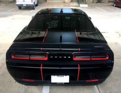 Dodge Challenger SRT Racing Stripes rear
