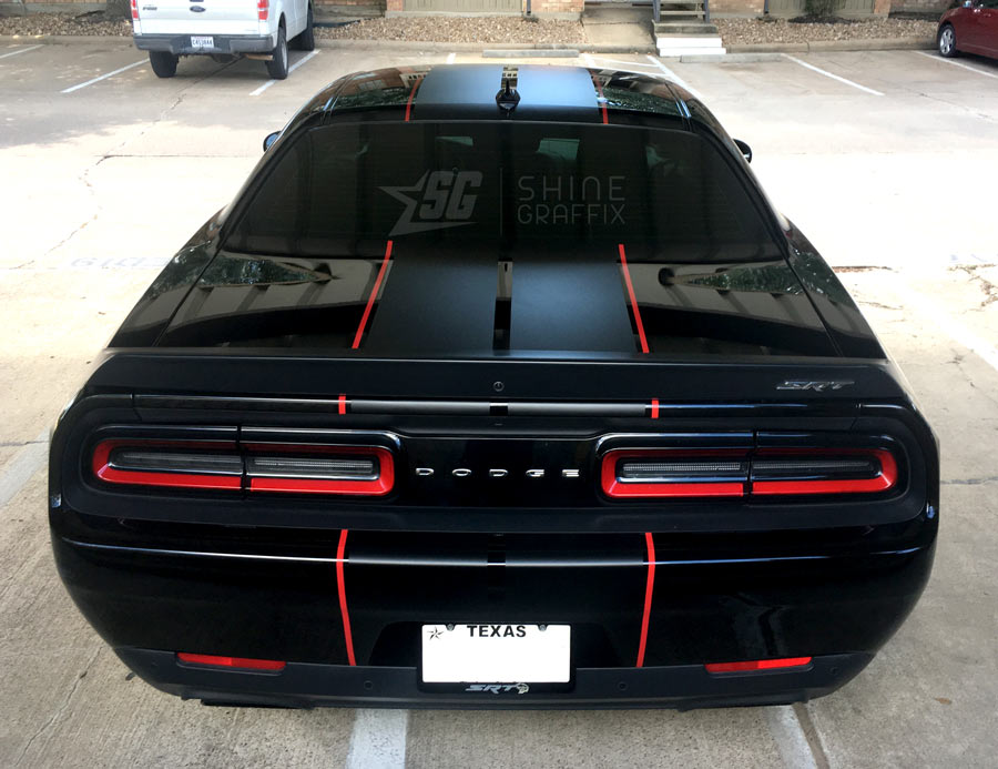 Dodge Challenger SRT Racing Stripes rear