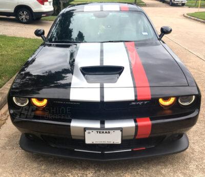 Dodge Challenger Triple Racing Stripes SRT Front