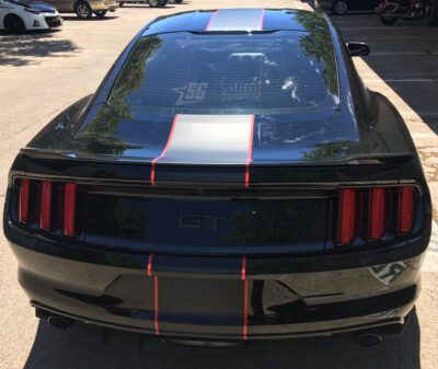 Mustang single stripe Shelby rear