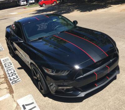 Mustang single stripe Shelby side