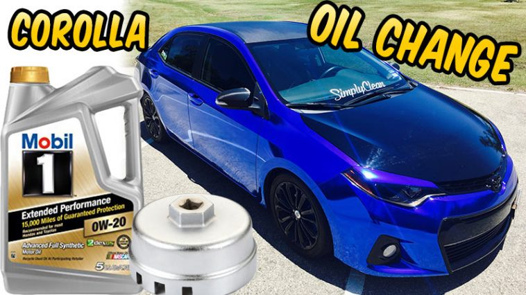 Mobil 1 oil change Toyota Corolla 2014 2015 2016 2017