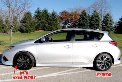 Corolla scion iM wheel decals side silver 2016 2017