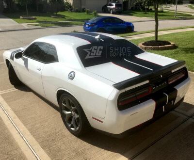 Dodge Challenger Race Stripes side rear