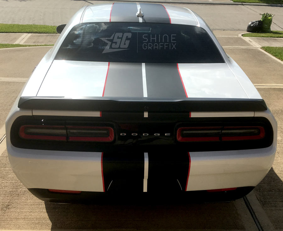 Challenger Dual Racing Stripes Kit 2colors Shine