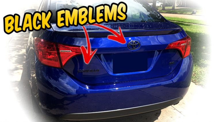 Make your car Emblems BLACK with Plasti dip - 2017 Toyota Corolla