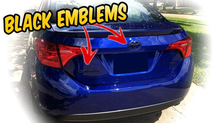 Make your car Emblems BLACK with Plasti dip - 2017 Toyota Corolla
