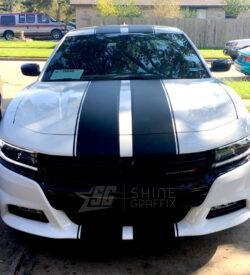 2018 dodge charger rally racing stripes