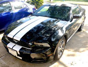 Mustang 8in wide racing stripes side