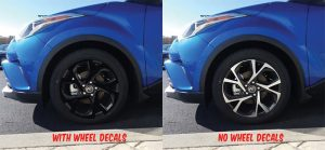 2018 Toyota C-HR wheel decals kit front
