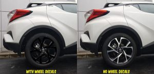 2018 Toyota C-HR wheel decals kit rear