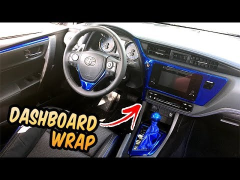 Corolla SE dashboard wrap blue chrome 2018