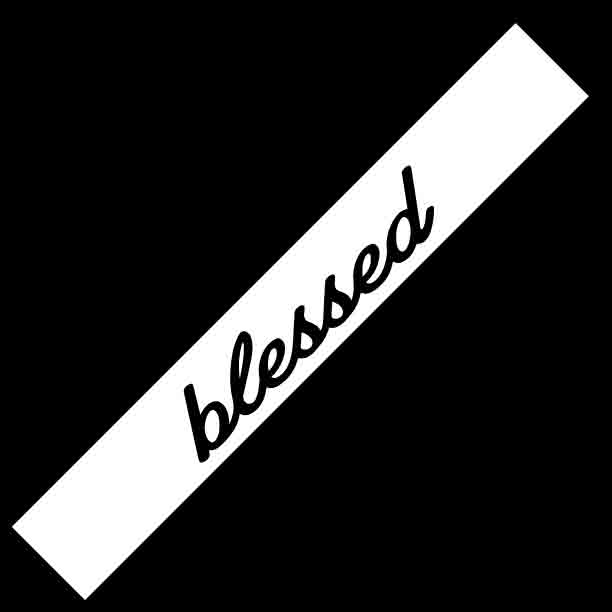blessed windshield banner decal jdm corolla sample white