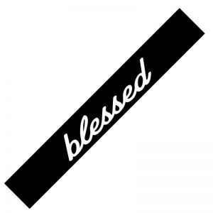 blessed windshield banner decal jdm corolla sample