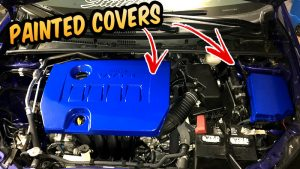 how to paint engine cover 2014 - 2018 Toyota corolla se