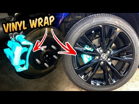 how to wrap brake calipers corolla