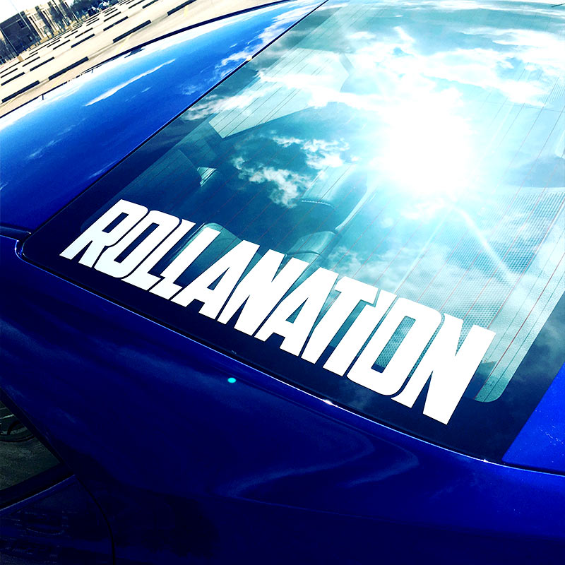 Rollanation vinyl decal JDM Corolla club rear